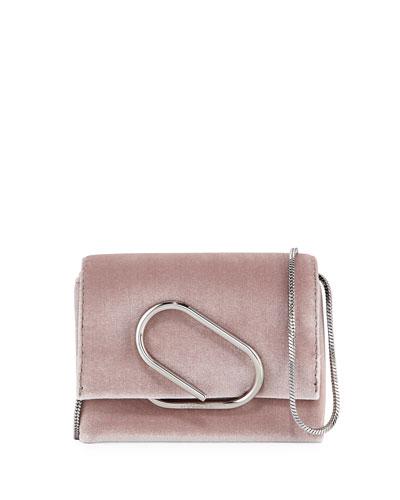 Alix Micro Velvet Crossbody Bag