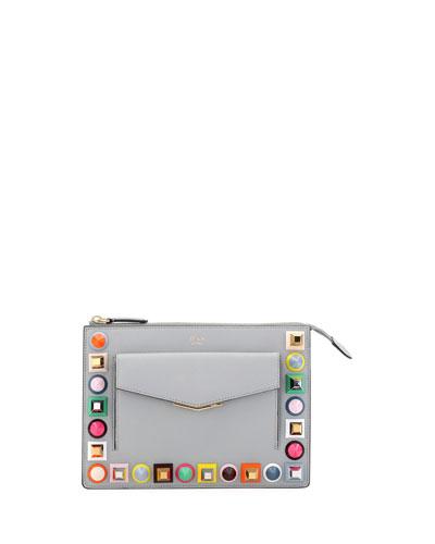 Mini Studded Crossbody Pouch Bag
