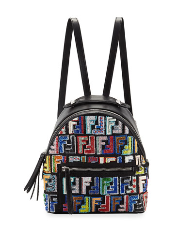 Santander Nylon Embroidered Backpack