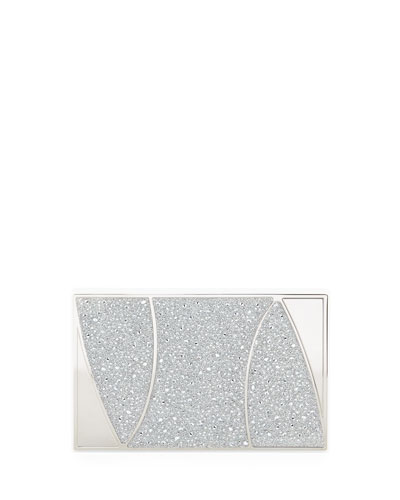 Marchese Swarovski® Crystal Clutch Bag, Silver