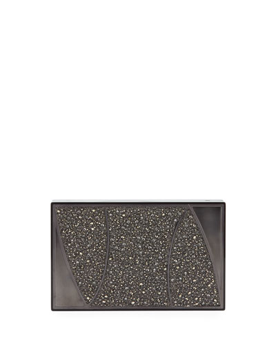 Marchese Swarovski® Crystal Clutch Bag, Gray