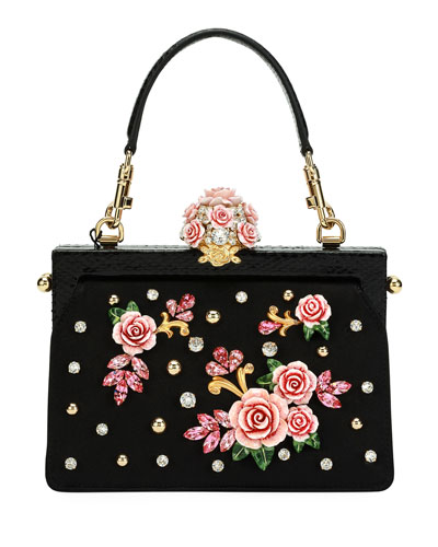 Vanda Embellished Rose Evening Bag