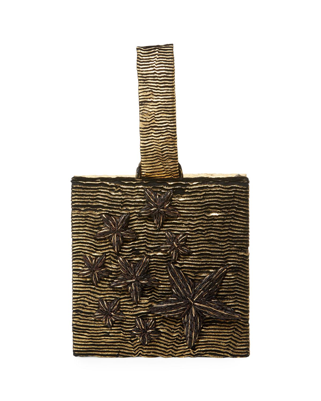 Star Stelle Metallic Box Clutch Bag