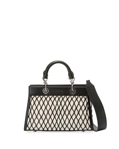 Shadow Small Grid Tote Bag