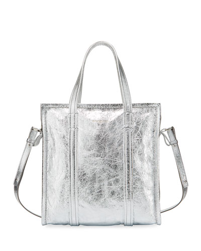 Bazar Shopper Small AJ Metallic Leather Tote Bag