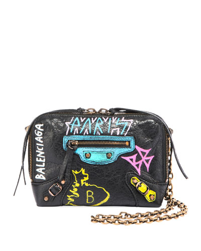 Classic Reporter XS Chain Graffiti Crossbody Bag