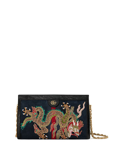 Linea Dragoni Medium Chain Shoulder Bag