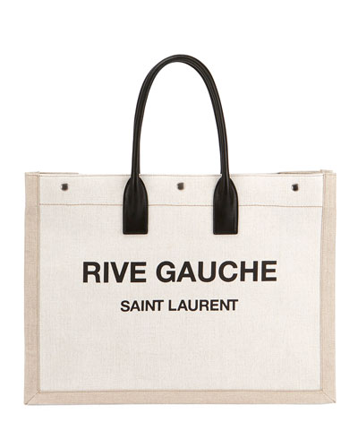 c20776008b3f Noe Cabas Large Rive Gauche Canvas Tote Bag