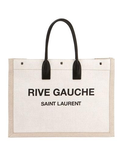 78a4ba9481937 Noe Cabas Large Rive Gauche Canvas Tote Bag Quick Look. Saint Laurent