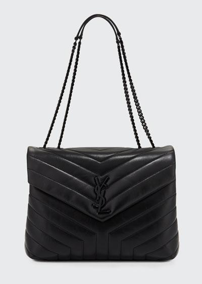 Monogram Loulou Medium Chain Bag with Noir Hardware