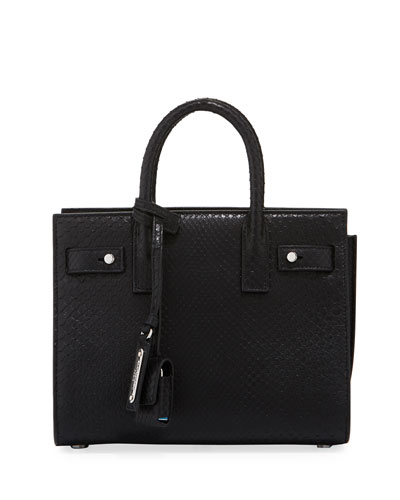 Supple Sac de Jour Python Satchel Bag