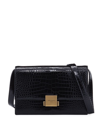 Bellechasse Medium Croc-Print Satchel Bag