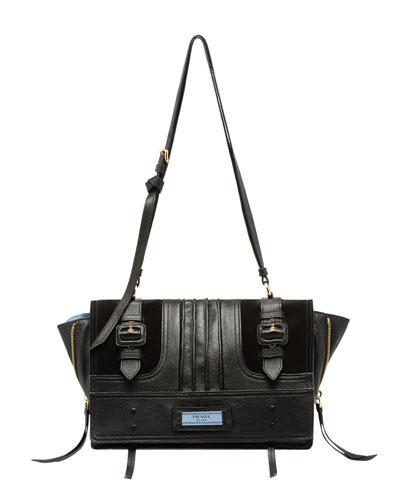 Etiquette Medium Patch Crossbody Bag