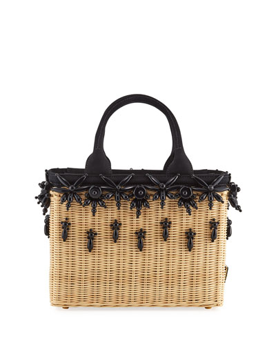 3b7bae7125 Small Beaded Basket Tote Bag Quick Look. Prada