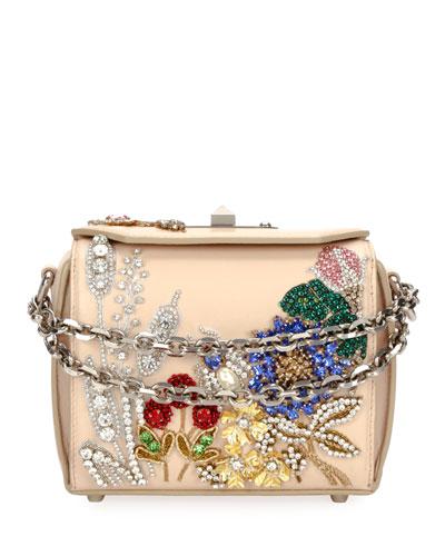 Box 16 Floral Beaded Crossbody Bag