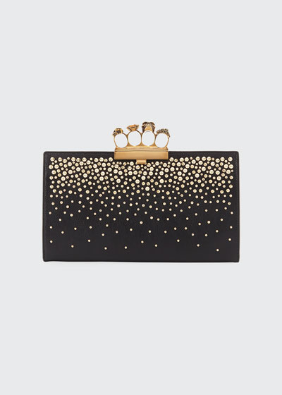 Skull Four Ring Flat Pouch Bag