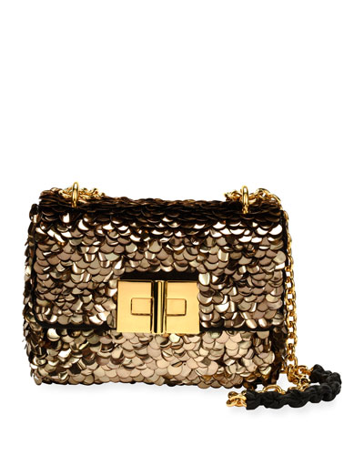 Natalia Paillette-Embellished Chain Shoulder Bag