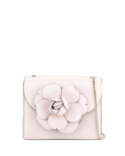 Mini Gardenia Leather Crossbody Bag