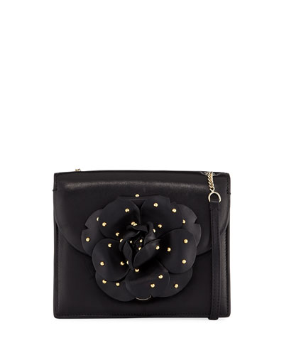 Mini Studded Gardenia Leather Crossbody Bag