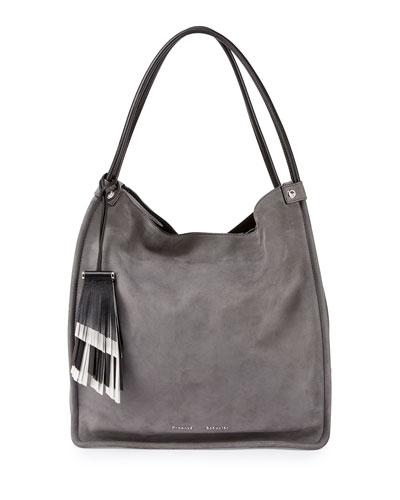 Medium Nubuck Leather Tote Bag
