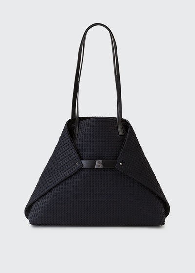 Ai Medium Techno Fabric Shoulder Bag, Black