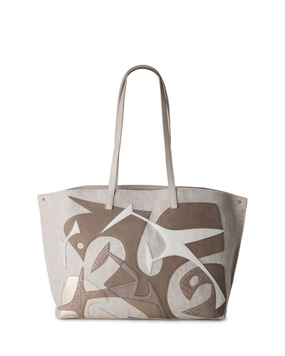 Ai Medium Laser-Cut Tote Bag