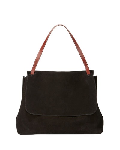 Suede Top-Handle Bag 14