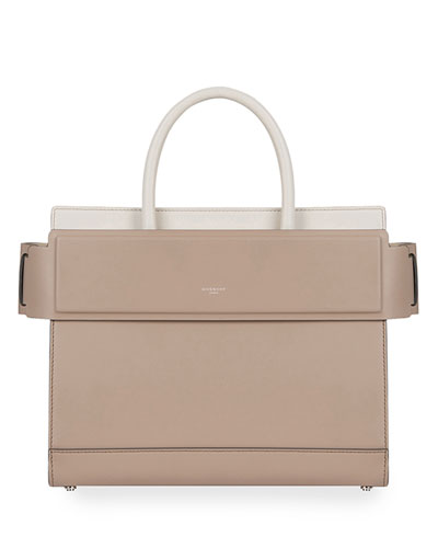 Horizon Small Bicolor Leather Tote Bag