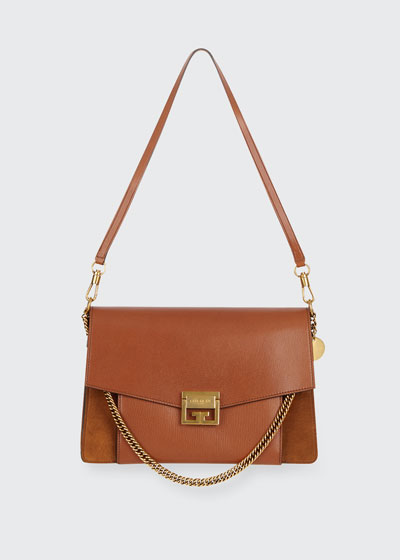 GV3 Medium Pebbled Leather Shoulder Bag - Golden Hardware