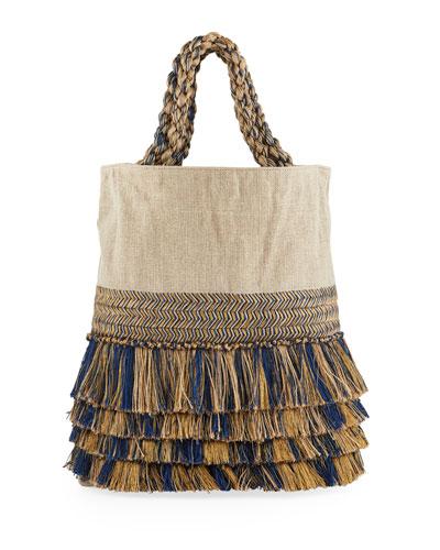 Pontania Folded Fringed Handbag