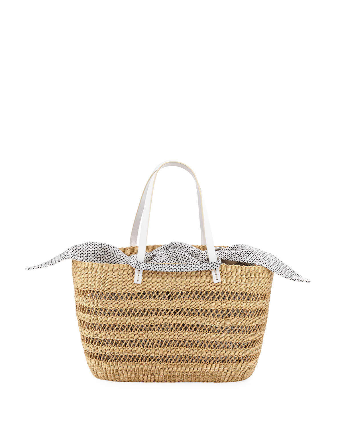 Paola Woven Straw Tote Bag