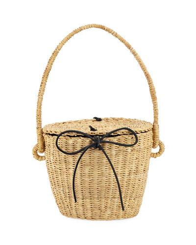 Lou Straw Basket Bag