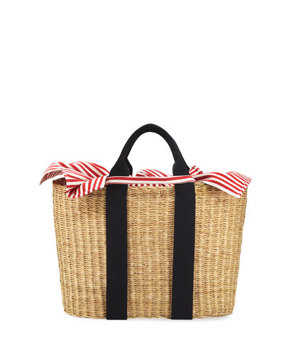 Caba Woven Straw Tote Bag