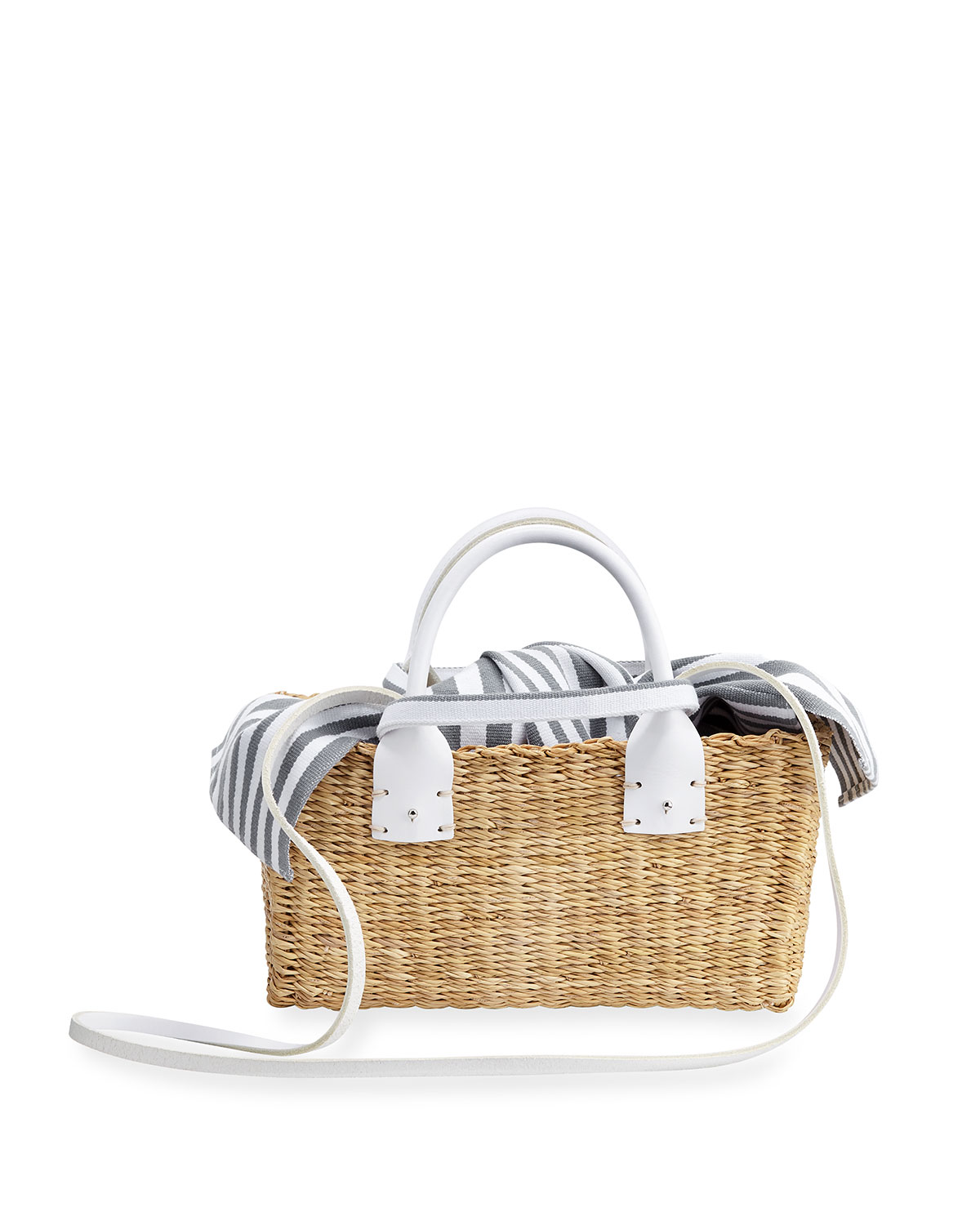 Manolo Woven Straw Tote Bag