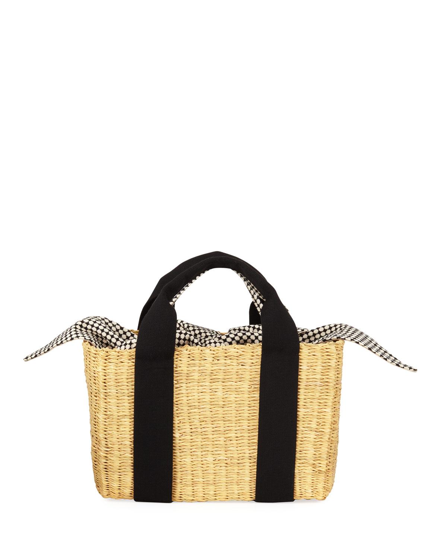 Dino Capri Straw Tote Bag