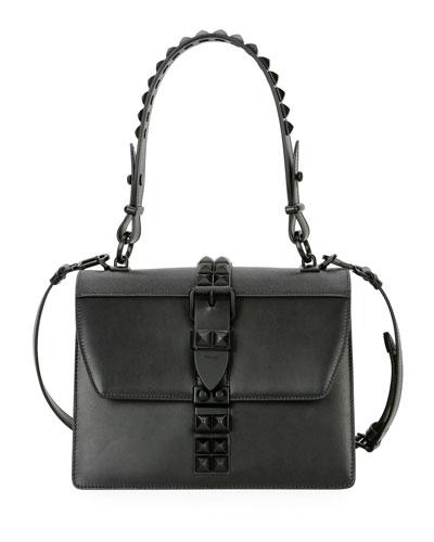 City Calf Studded Top-Handle Bag