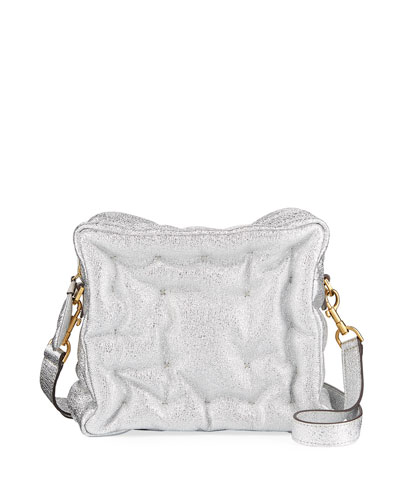 Chubby Cube Metallic Crossbody Bag