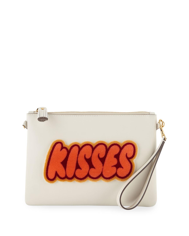 ANYA HINDMARCH KISSES CROSSBODY/WRISTLET POUCH BAG
