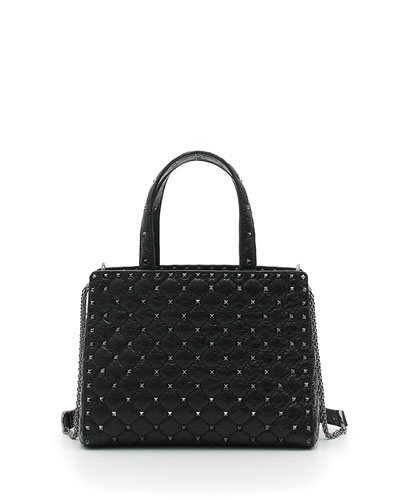 Rockstud Spike Quilted Leather Tote Bag