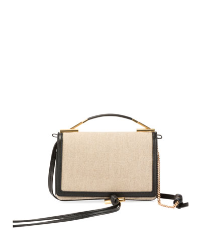 Framed Canvas Small Shoulder Bag