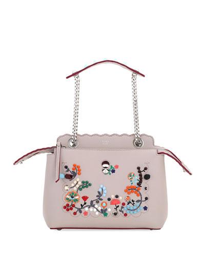 Dotcom Click Embroidered Shoulder Bag