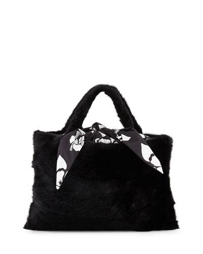 Furrissima Foulard Mink Tote Bag