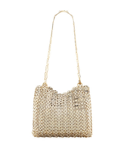 Iconic Small Antiqued Brass Link Chain Shoulder Bag