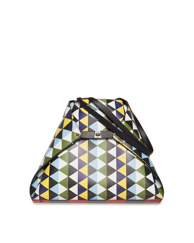Ai Medium Soft Printed Reversible Shoulder Bag