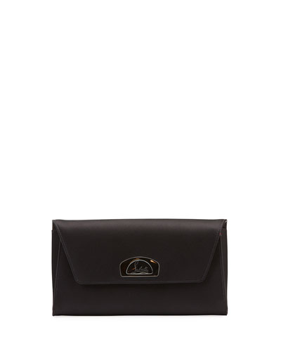 Vero Dodat Satin Clutch Bag