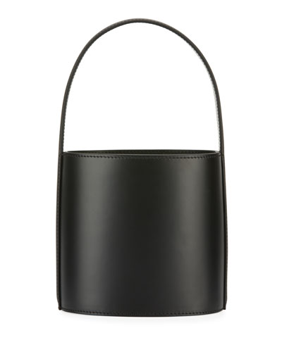Bissett Smooth Leather Top-Handle Bucket Bag - Black