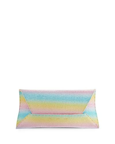 Manila Stretch Rainbow Sparkle Clutch Bag