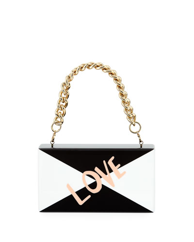 Jean Love Acrylic Clutch Bag with Handle
