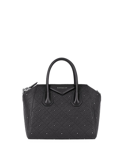 Antigona Small 4G Quilted Leather Satchel Bag