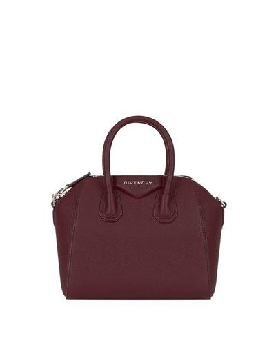 Antigona Small Leather Satchel Bag